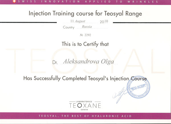 Teosyal's Injection Coourse